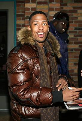 Nick Cannon Wearing Louis Vuitton Scarf Poster by Everett