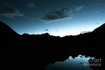 Night Sky Himalayas Tibet Yantra.lv Poster by Raimond Klavins