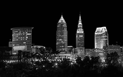 Night Time In Cleveland Ohio Poster by Dale Kincaid
