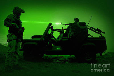 Night Vision View Of U.s. Special Poster by Tom Weber