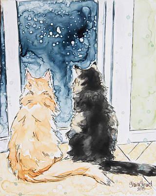 Night Watchers Poster by Shaina Stinard