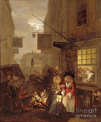 Night Poster by William Hogarth