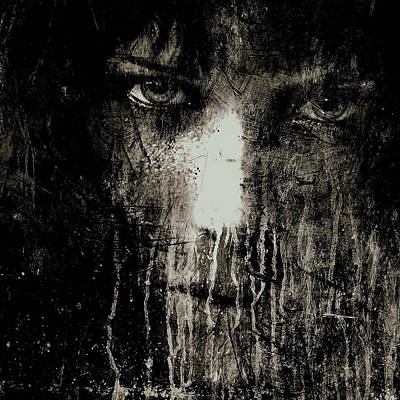Nights Eyes Black And White Poster by Marian Voicu