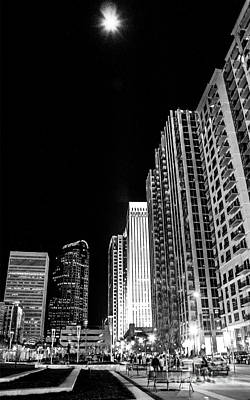 Nighttime Uptown Charlotte  Poster by Robert Yaeger