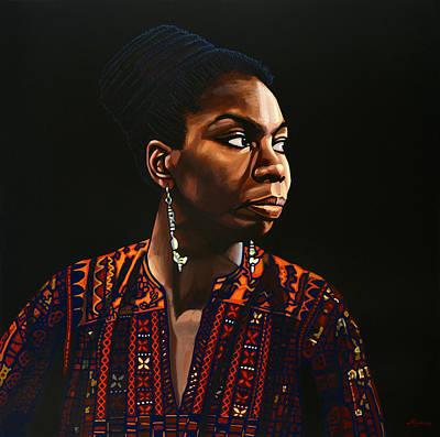 Nina Simone Poster by Paul Meijering