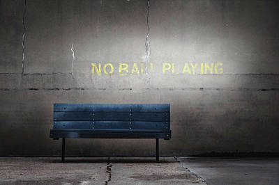 No Ball Playing Poster by Eduard Moldoveanu