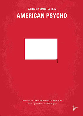 No005 My American Psyhco Minimal Movie Poster Poster by Chungkong Art