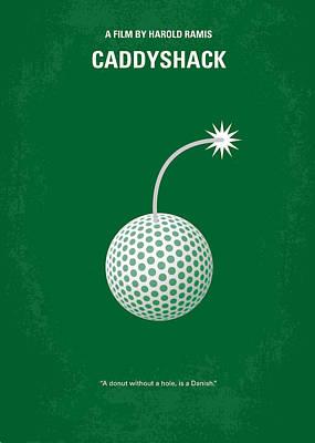 No013 My Caddy Shack Minimal Movie Poster Poster by Chungkong Art