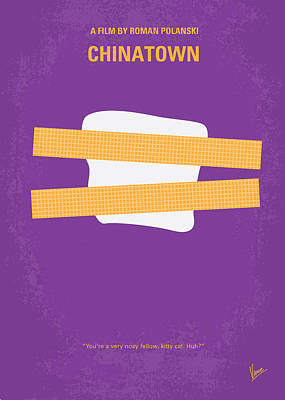 No015 My Chinatown Minimal Movie Poster Poster by Chungkong Art