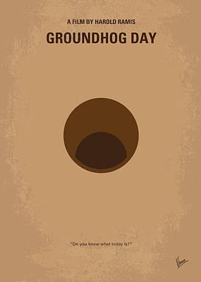 No031 My Groundhog Minimal Movie Poster Poster by Chungkong Art