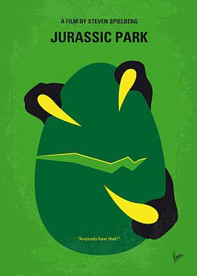 No047 My Jurassic Park Minimal Movie Poster Poster by Chungkong Art