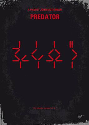 No066 My Predator Minimal Movie Poster Poster by Chungkong Art