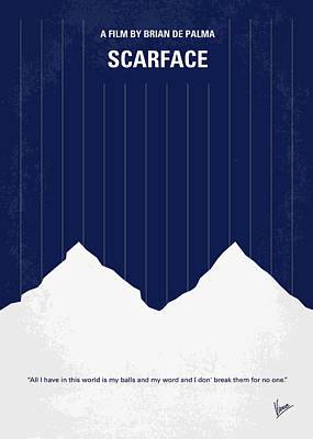 No158 My Scarface Minimal Movie Poster Poster by Chungkong Art