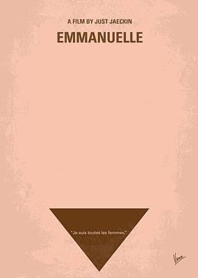 No160 My Emmanuelle Minimal Movie Poster Poster by Chungkong Art