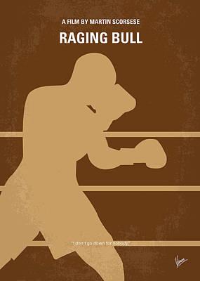 No174 My Raging Bull Minimal Movie Poster Poster by Chungkong Art