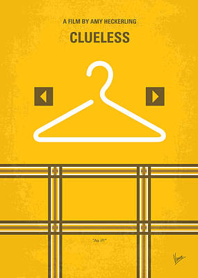 No331 My Clueless Minimal Movie Poster Poster by Chungkong Art