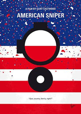No435 My American Sniper Minimal Movie Poster Poster by Chungkong Art