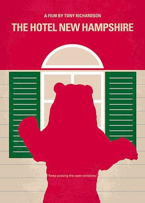 No443 My The Hotel New Hampshire Minimal Movie Poster Poster by Chungkong Art
