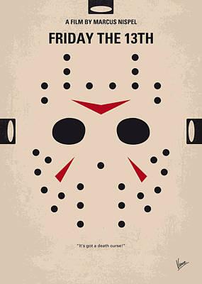 No449 My Friday The 13th Minimal Movie Poster Poster by Chungkong Art
