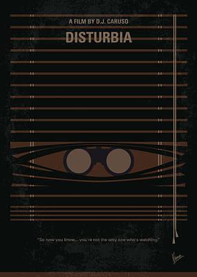 No457 My Disturbia Minimal Movie Poster Poster by Chungkong Art