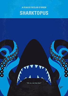 No485 My Sharktopus Minimal Movie Poster Poster by Chungkong Art