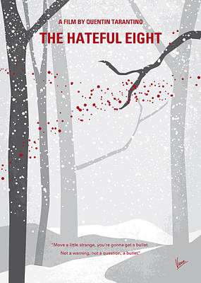 No502 My Hateful Eight Minimal Movie Poster Poster by Chungkong Art