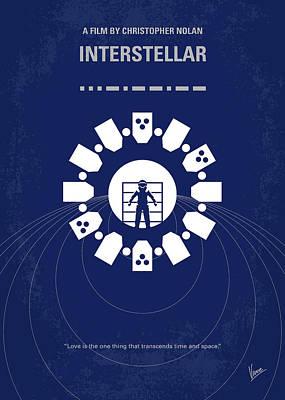 No532 My Interstellar Minimal Movie Poster Poster by Chungkong Art