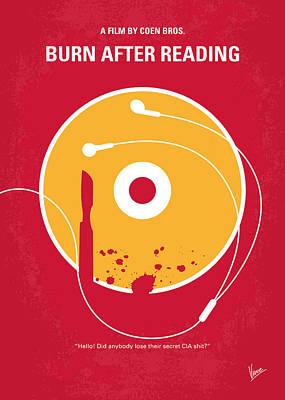 No547 My Burn After Reading Minimal Movie Poster Poster by Chungkong Art