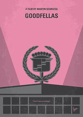 No549 My Goodfellas Minimal Movie Poster Poster by Chungkong Art