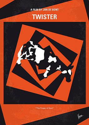 No560 My Twister Minimal Movie Poster Poster by Chungkong Art