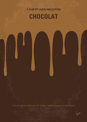 No567 My Chocolat Minimal Movie Poster Poster by Chungkong Art