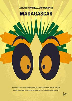 No589 My Madagascar Minimal Movie Poster Poster by Chungkong Art