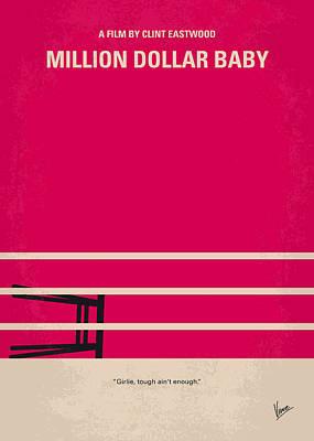 No613 My Million Dollar Baby Minimal Movie Poster Poster by Chungkong Art