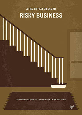 No615 My Risky Business Minimal Movie Poster Poster by Chungkong Art