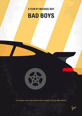 No627 My Bad Boys Minimal Movie Poster Poster by Chungkong Art