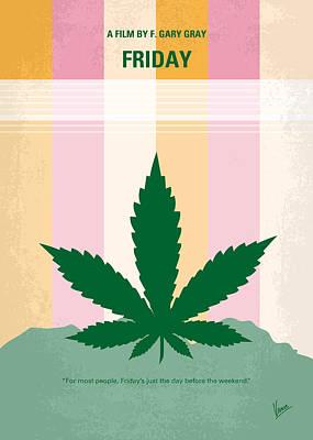 No634 My Friday Minimal Movie Poster Poster by Chungkong Art