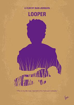 No636 My Looper Minimal Movie Poster Poster by Chungkong Art