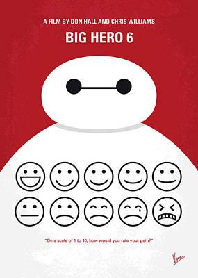 No649 My Big Hero 6 Minimal Movie Poster Poster by Chungkong Art