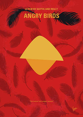 No658 My Angry Birds Movie Minimal Movie Poster Poster by Chungkong Art