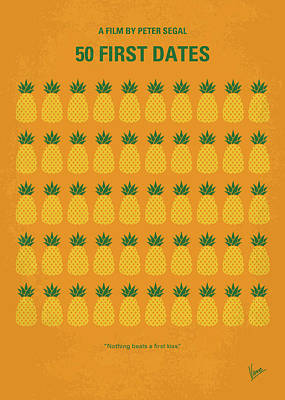 No696 My 50 First Dates Minimal Movie Poster by Chungkong Art
