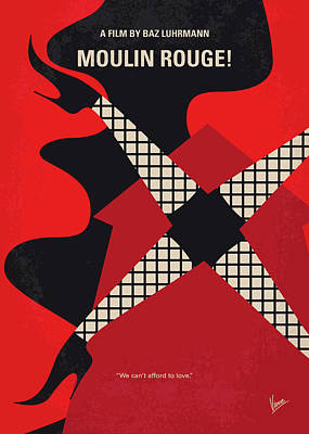 No713 My Moulin Rouge Minimal Movie Poster Poster by Chungkong Art
