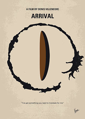 No735 My Arrival Minimal Movie Poster Poster by Chungkong Art