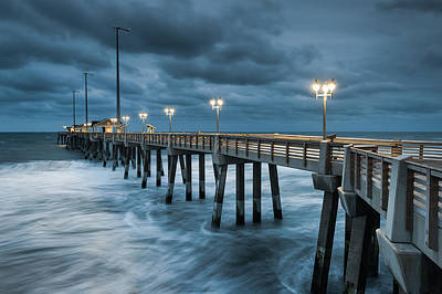 North Carolina Fishing Pier Outer Banks Poster by Mark VanDyke