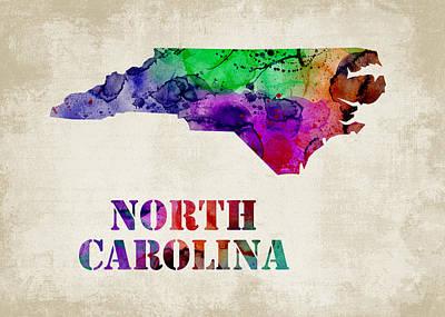 North Carolina Poster by Mihaela Pater