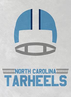 North Carolina Tar Heels Vintage Football Art Poster by Joe Hamilton