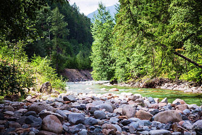 North Cascades Rivers And Rocks Landscape Photography By Omashte Poster by Omaste Witkowski
