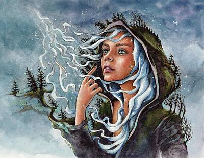 North Wind Poster by Christine Karron