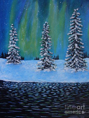 Northern Lights Of Labrador Poster by Beverly Livingstone