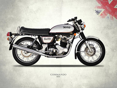 Norton Commando 850 Poster by Mark Rogan