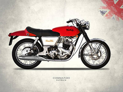 Norton Commando Fastback Poster by Mark Rogan